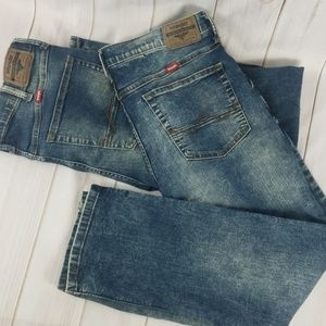 Wrangler Mens Jeans 34 Waist 30 Length Slim Cowboy